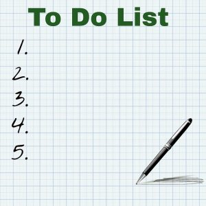Use a to-do list to achieve your goals