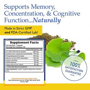 Neuro Clarity ingredients to support memory and concentration naturally